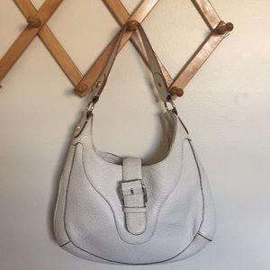 MICHAEL KORS Throwback Leather Cream Satchel Bag